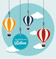 Air balloon over blue background vector
