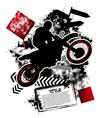 Motorcycle grunge vector