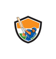 India cricket player batsman batting shield vector