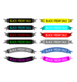 A set of colorful black friday banners vector