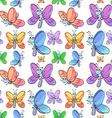 Seamless butterflies vector
