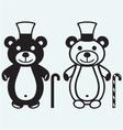 Creative teddy bear vector