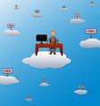 Working in the cloud vector