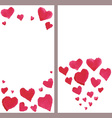 Business banners with watercolor hearts vector