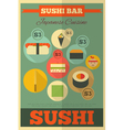 Sushi poster vector