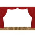 Red drapes vector