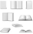 Realistic book set vector