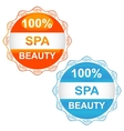 Spa sign icons vector