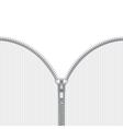 Realistic open zipper template vector