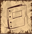 Folder icon isolated on vintage background vector