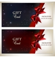 Holiday banners with red bows and copy space vector