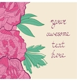 Colorful peonies card vector