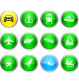 Transport round icons vector