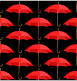 Semless a background from red umbrellas vector