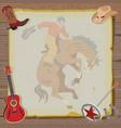 Western rodeo cowboy vector