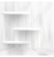 Wood shelf on wood background  eps10 vector