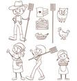 A simple sketch of a farmer vector