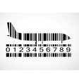 Barcode airplane image vector