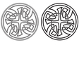Celtic round ornament set vector