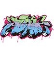 Graffito - boy vector