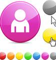 Person glossy button vector