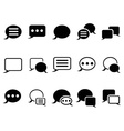 Speech bubble icons vector