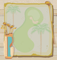 Tropical vintage golf party vector