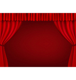 Red curtains vector