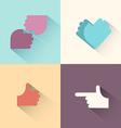 Hand gestures logo setsymbol of friendship the vector