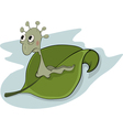 Worm and leaf vector