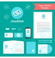 Cloud link logo and identity template vector