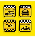 Taxi - set stickers square on the yellow vector