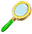 Magnifying glass search find icon vector
