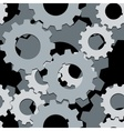 Seamless both side cogwheels pattern vector