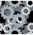 Seamless both side cogwheels pattern vector