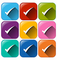Buttons with check marks vector