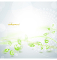 Abstract green feather background vector