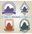 Vintage stamp rio de janeiro vector