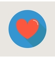 Heart icon concept love relationship valentines vector