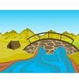Bridge through river vector
