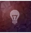 Bulb idea in flat style icon vector