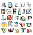 Collage letters vector
