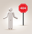 Sign 404 vector