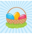 Easter beautiful card with two hand drawn eggs vector