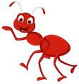 Red ant cartoon presenting vector