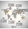 World map  infographic design for communication vector
