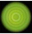 Abstract rays circular dark green background vector