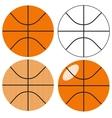 Basketball ball set vector