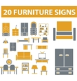 Furniture signs vector