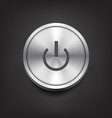 Metal power button vector